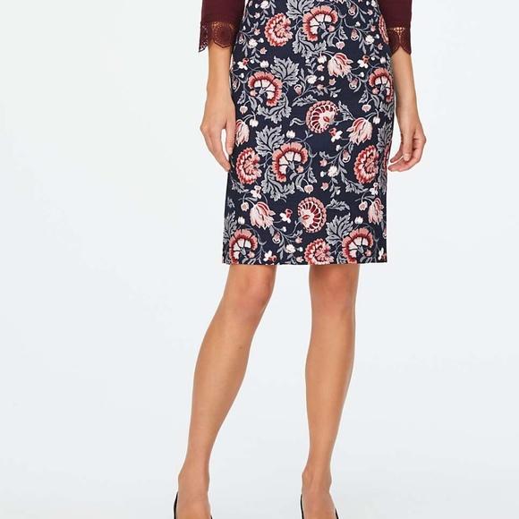 LOFT Dresses & Skirts - Loft Floral Midi Skirt w/side slits